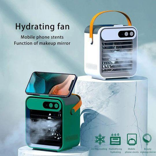 What are the features of the portable air conditioner